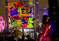 "RYAN MCGINNESS' ""WOMEN - THE BLACKLIGHT PAINTINGS"" AT LE BAIN, NEW YORK"