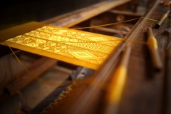 GOLDEN SPIDER SILK TEXTILE EXHIBIT OPENS AT THE ART INSTITUTE OF CHICAGO
