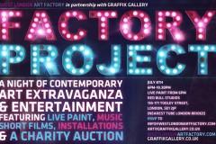 FACTORY PROJECT- PRESENTED BY WEST LONDON ART FACTORY & GRAFFIK GALLERY